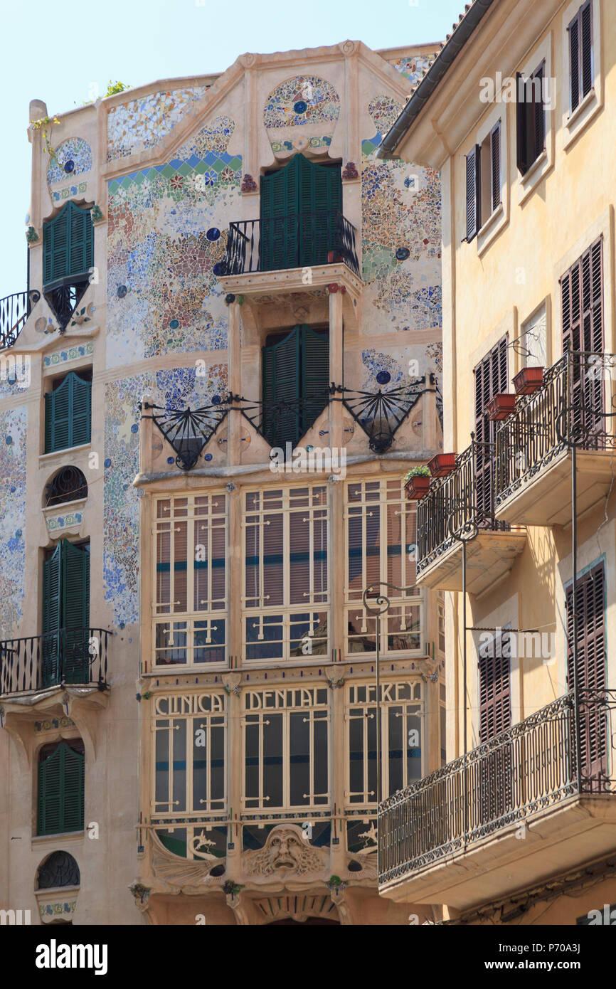 España, Islas Baleares, Mallorca, Palma de Mallorca, la Plaça Major Imagen De Stock