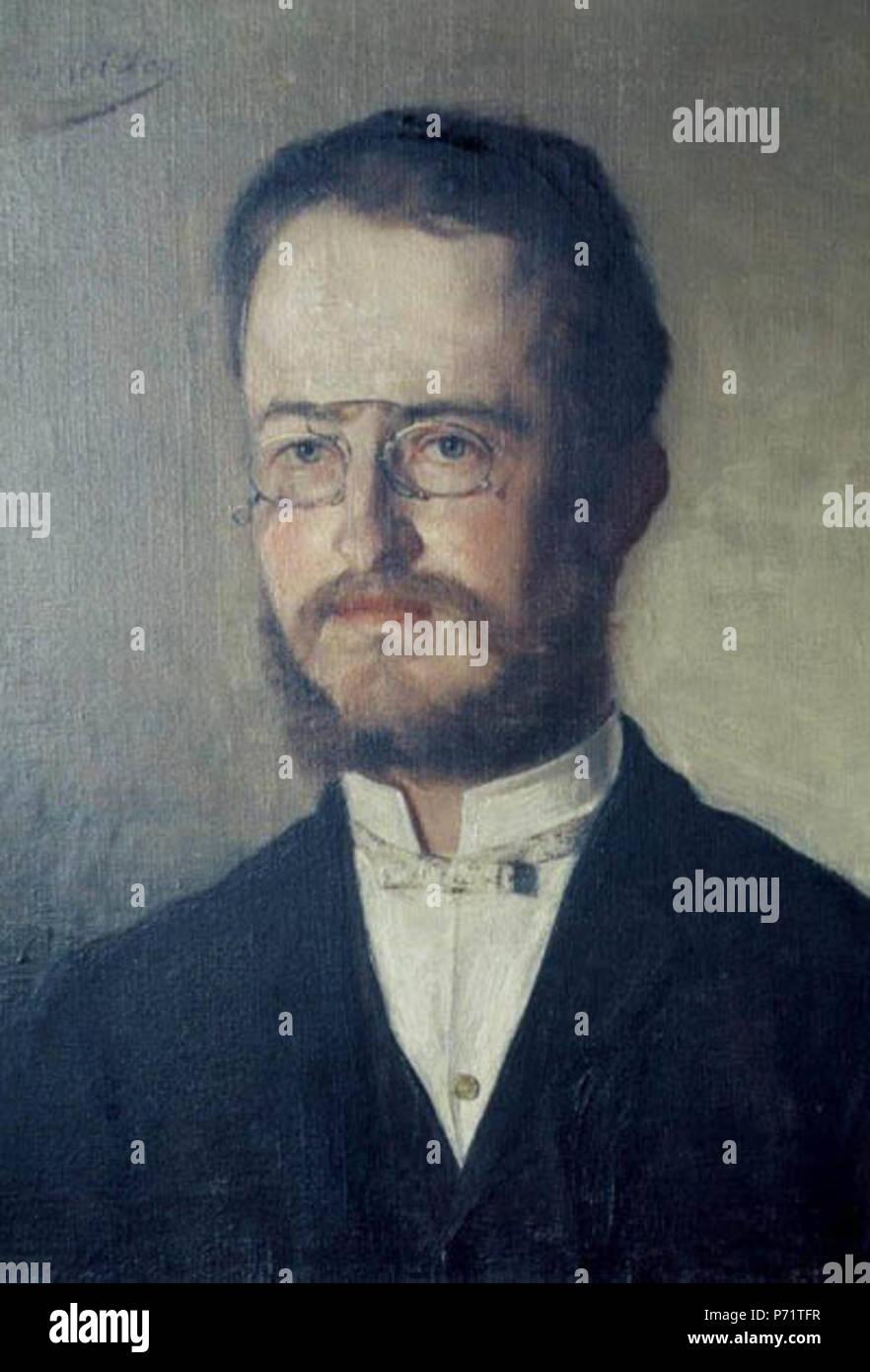 . Retrato de Luka Pintar 1890 145 Ivana Kobilca - Luka Pintar Imagen De Stock