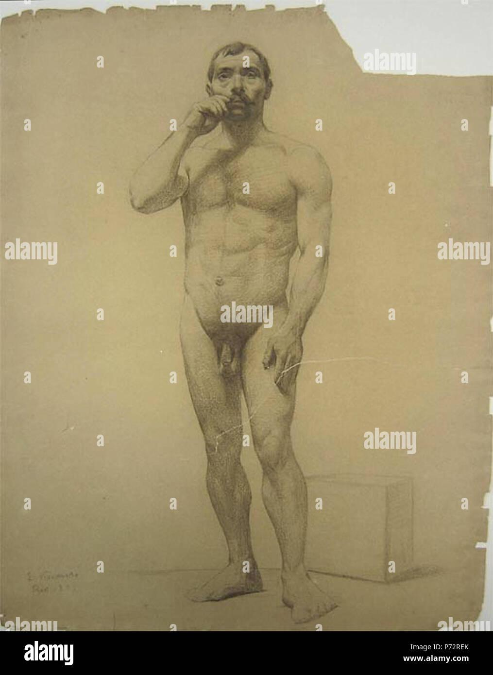 14 Eliseu Visconti - Nu masculino de pé 1889 Imagen De Stock