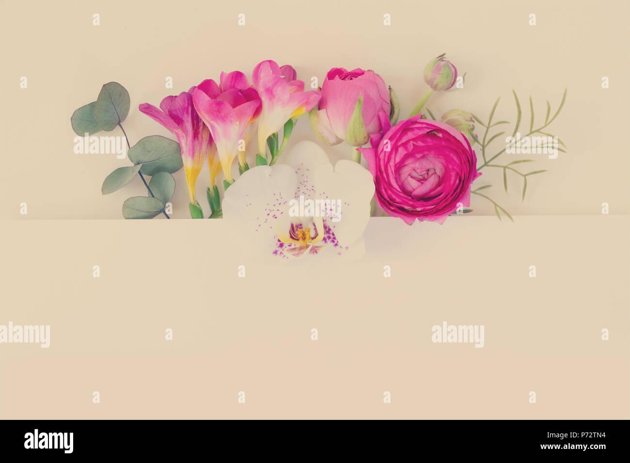 Flores Para Tarjetas De Presentación, Invitaciones