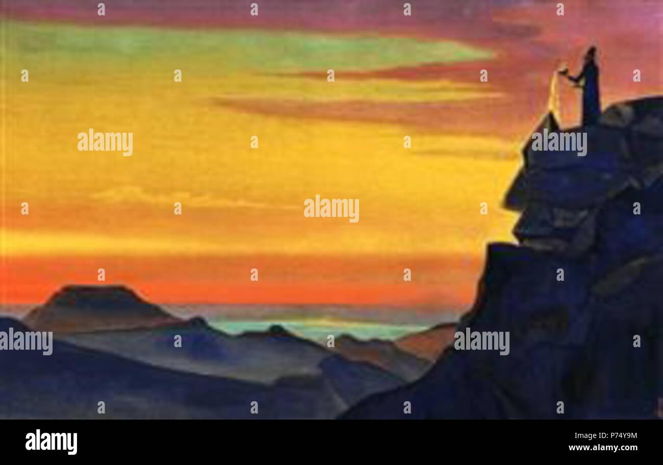 Trabajar por Nicholas Roerich . antes de 1947 54 Zaratustra!PinterestLarge-1931.jpg Foto de stock