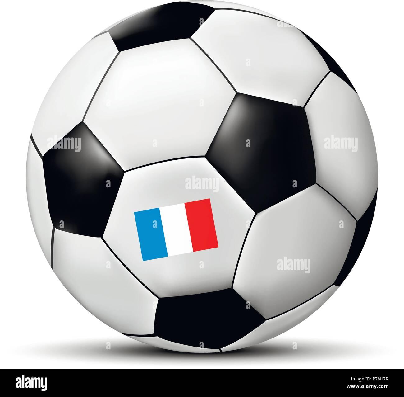 f04ceba650c7f El fútbol o el balón de fútbol con la bandera de Francia. Ilustración  vectorial.