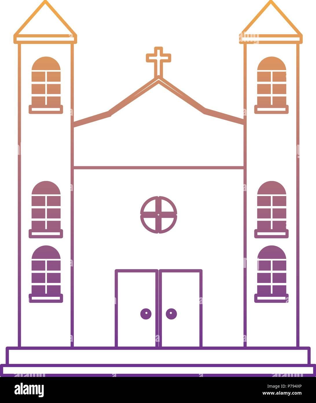 Icono de edificar la iglesia sobre fondo blanco, ilustración vectorial Ilustración del Vector