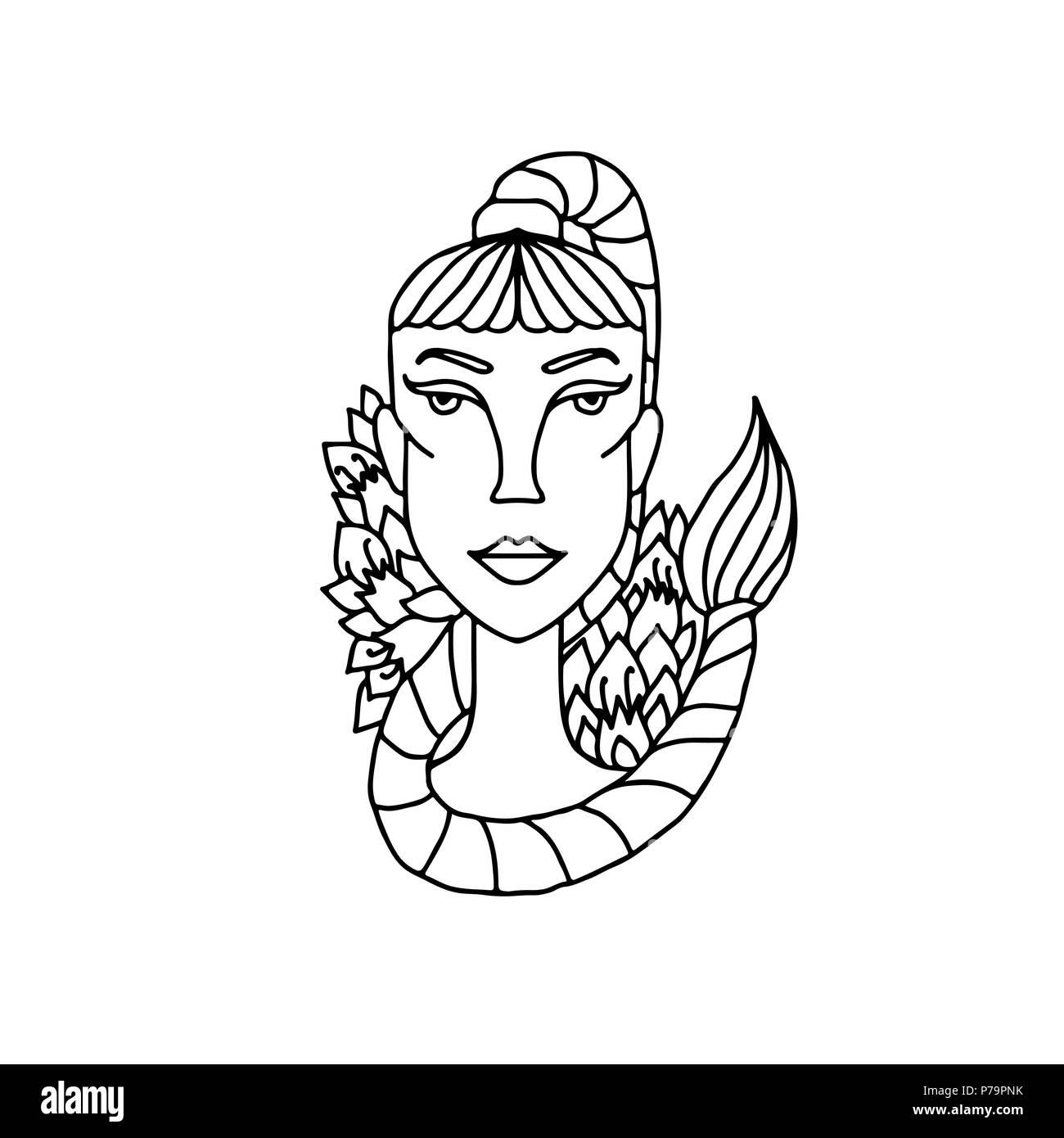 Escorpio Chica Retrato Signo Del Zodíaco Para Adulto Libro