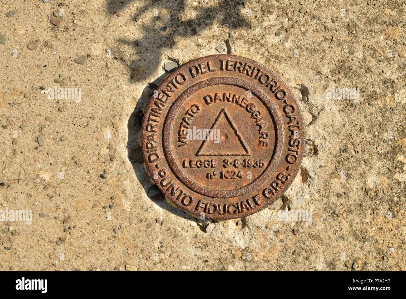 GPS - Punto punto fiducial fiduciale GPS Imagen De Stock