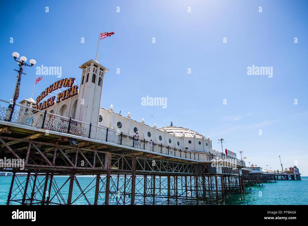 Palacio de Brighton Pier Imagen De Stock
