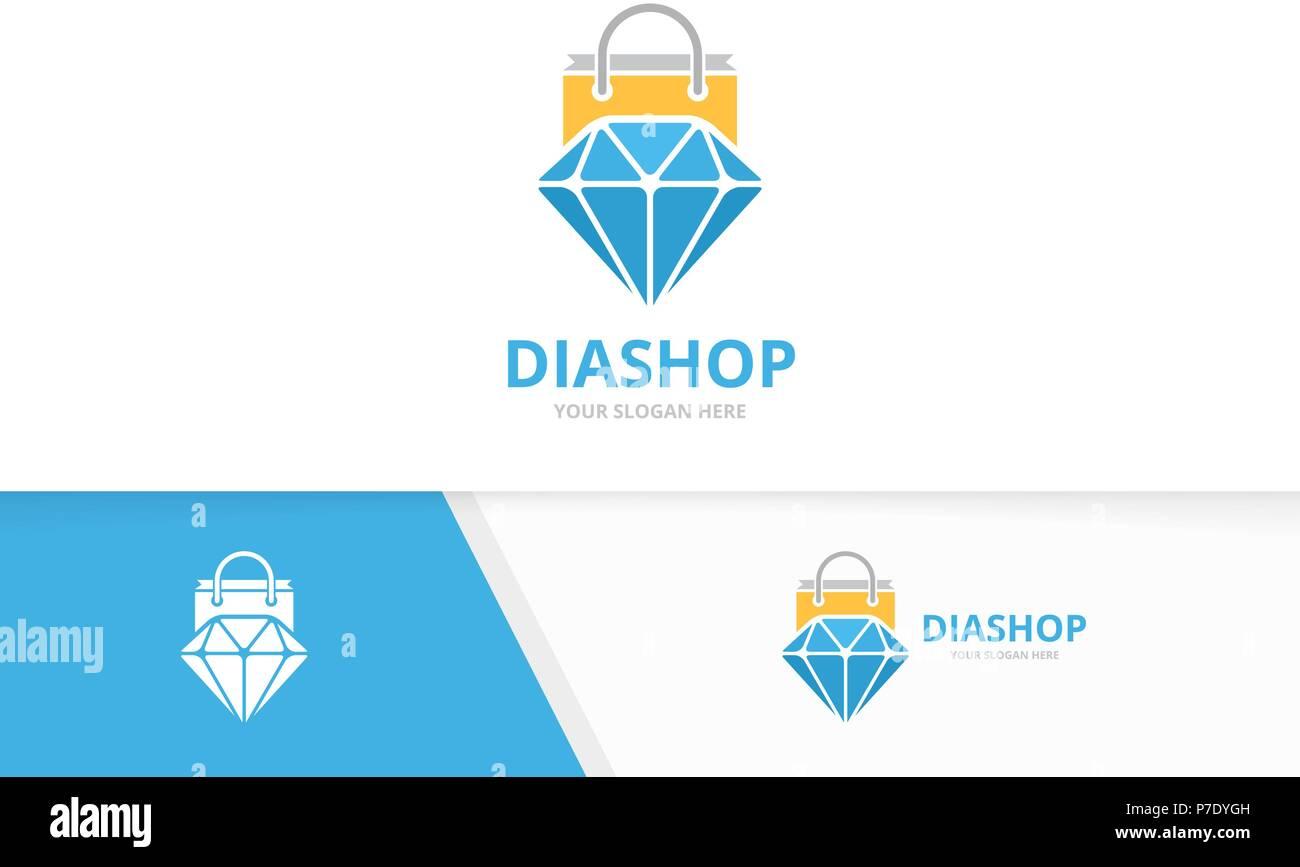 9d8f98d50b5b Vector logo tienda de diamantes y combinación. Joyas y venta de Símbolo o  icono.