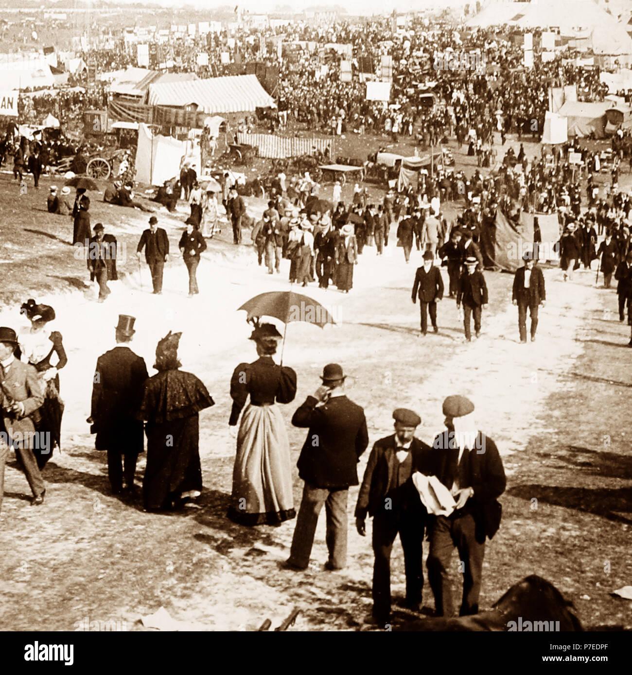 La Colina, pista de carreras Epsom Downs, 1900 Imagen De Stock
