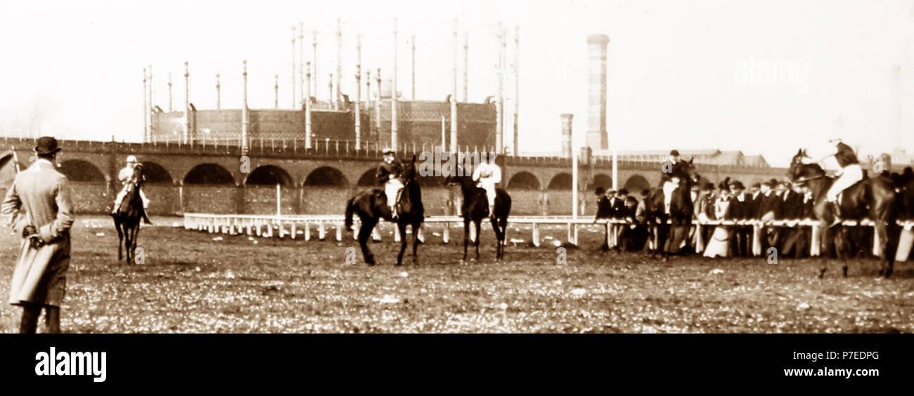El Hipódromo de Chester, 1900 Imagen De Stock
