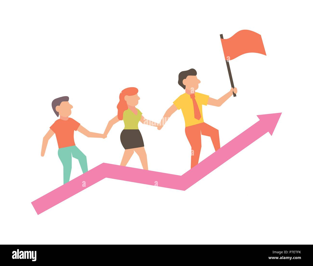 Ilustración de éxito para los negocios y diseño infográfico Imagen De Stock