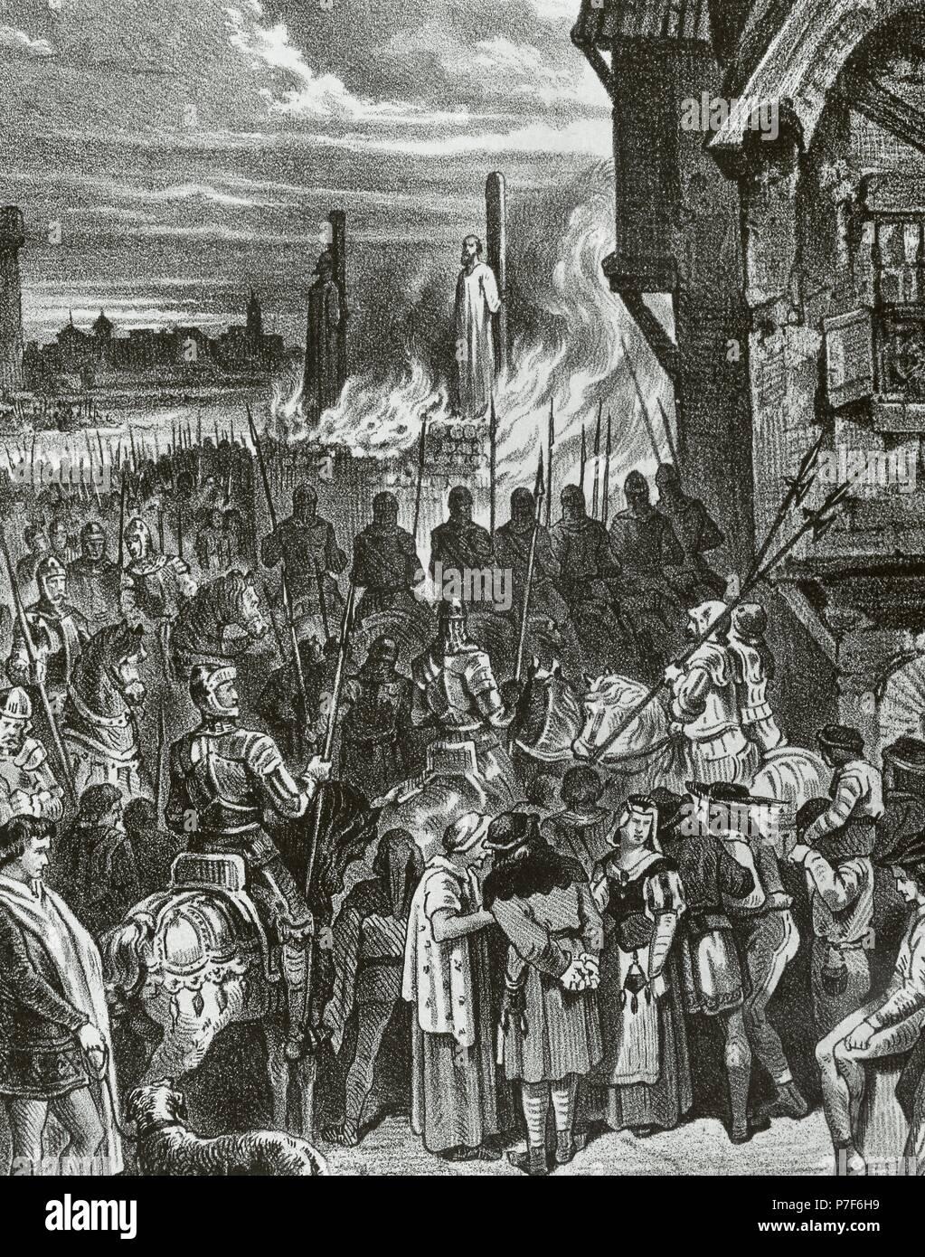 Resultado de imagen de quemados los templarios