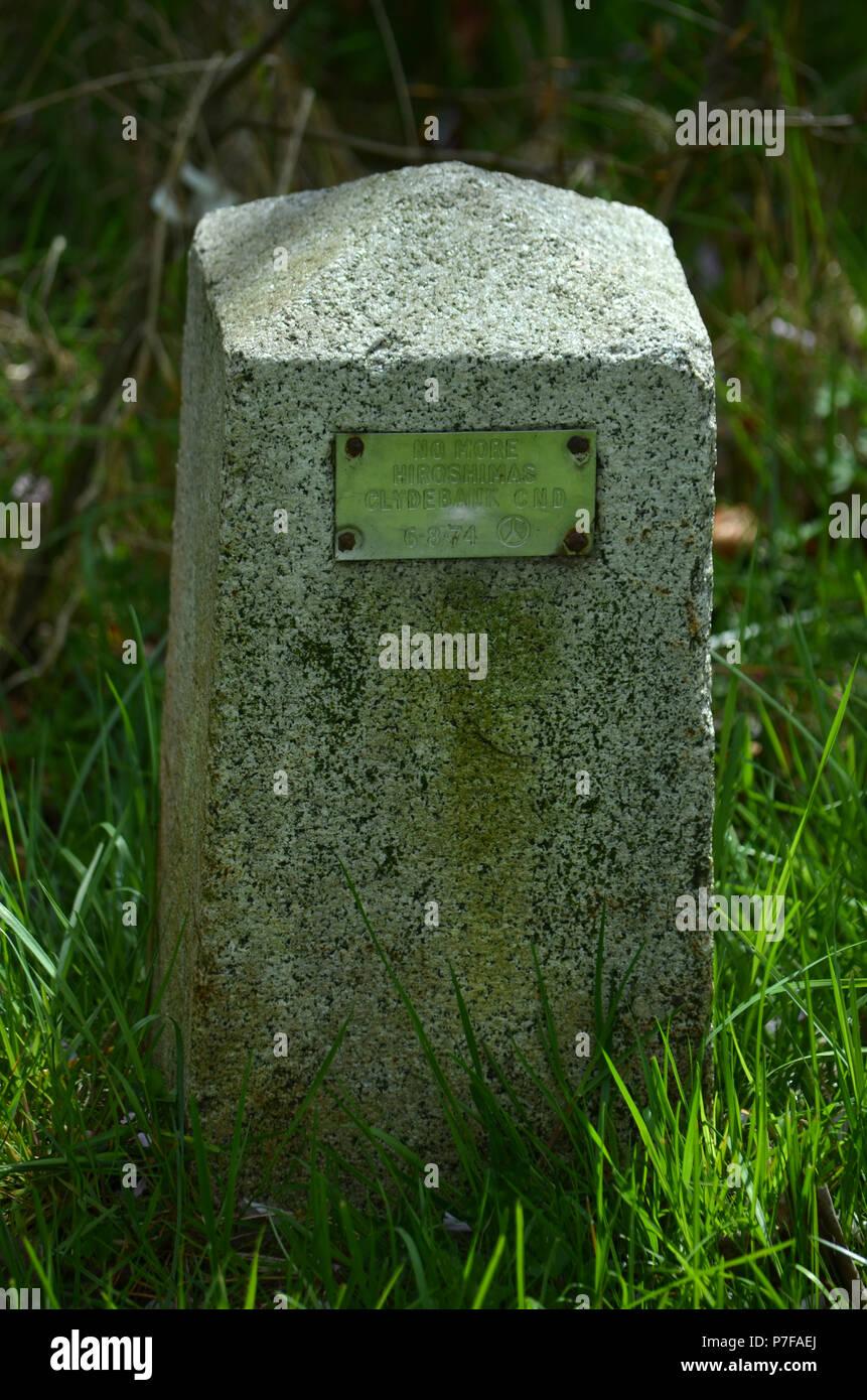 No más Hiroshimas - Clydebank CND Memorial en Dalmuir Imagen De Stock
