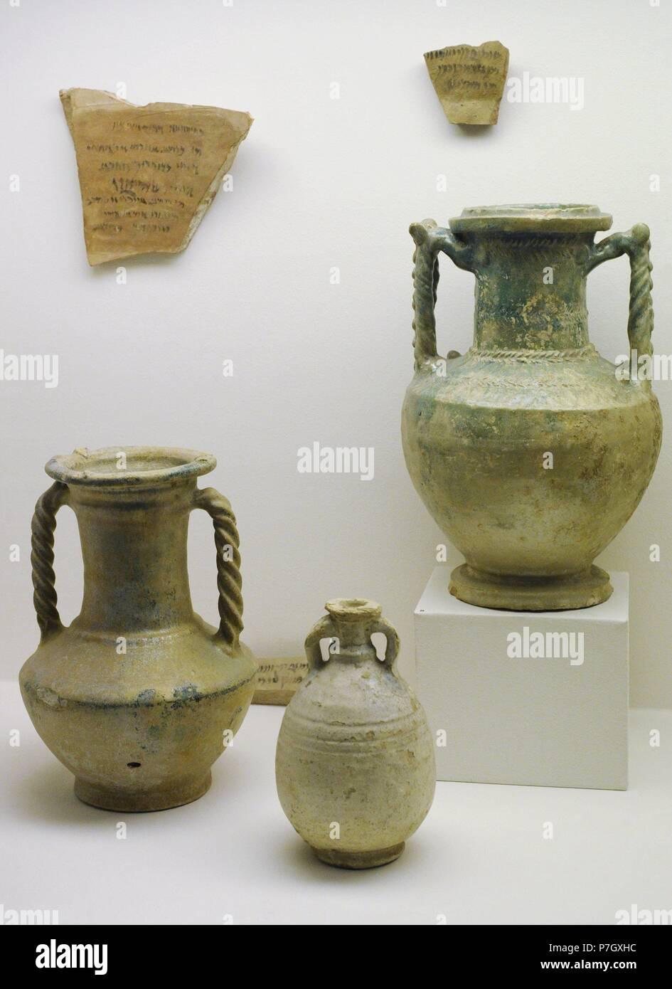 Cercano Oriente. La cerámica vidriada iraní. 2ª-3ª siglo DC. El Museo Estatal del Hermitage. San Petersburgo. Rusia. Foto de stock