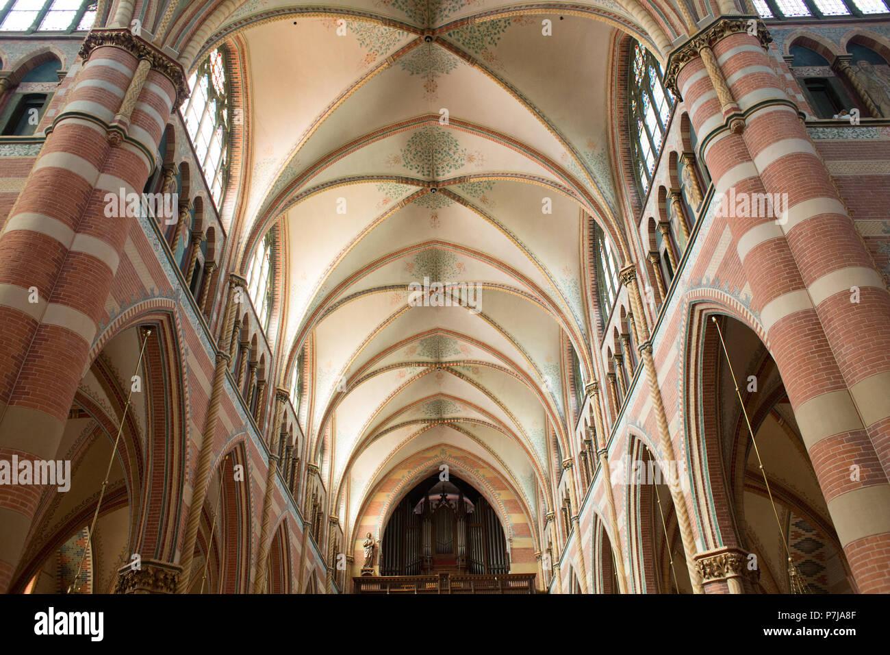 Techo de la iglesia en La Haya Foto de stock