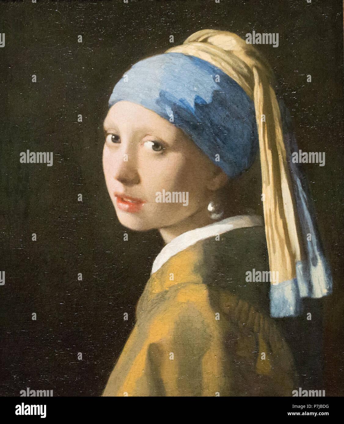 Johannes Vermeer (la joven de la Perla c.1665 Imagen De Stock