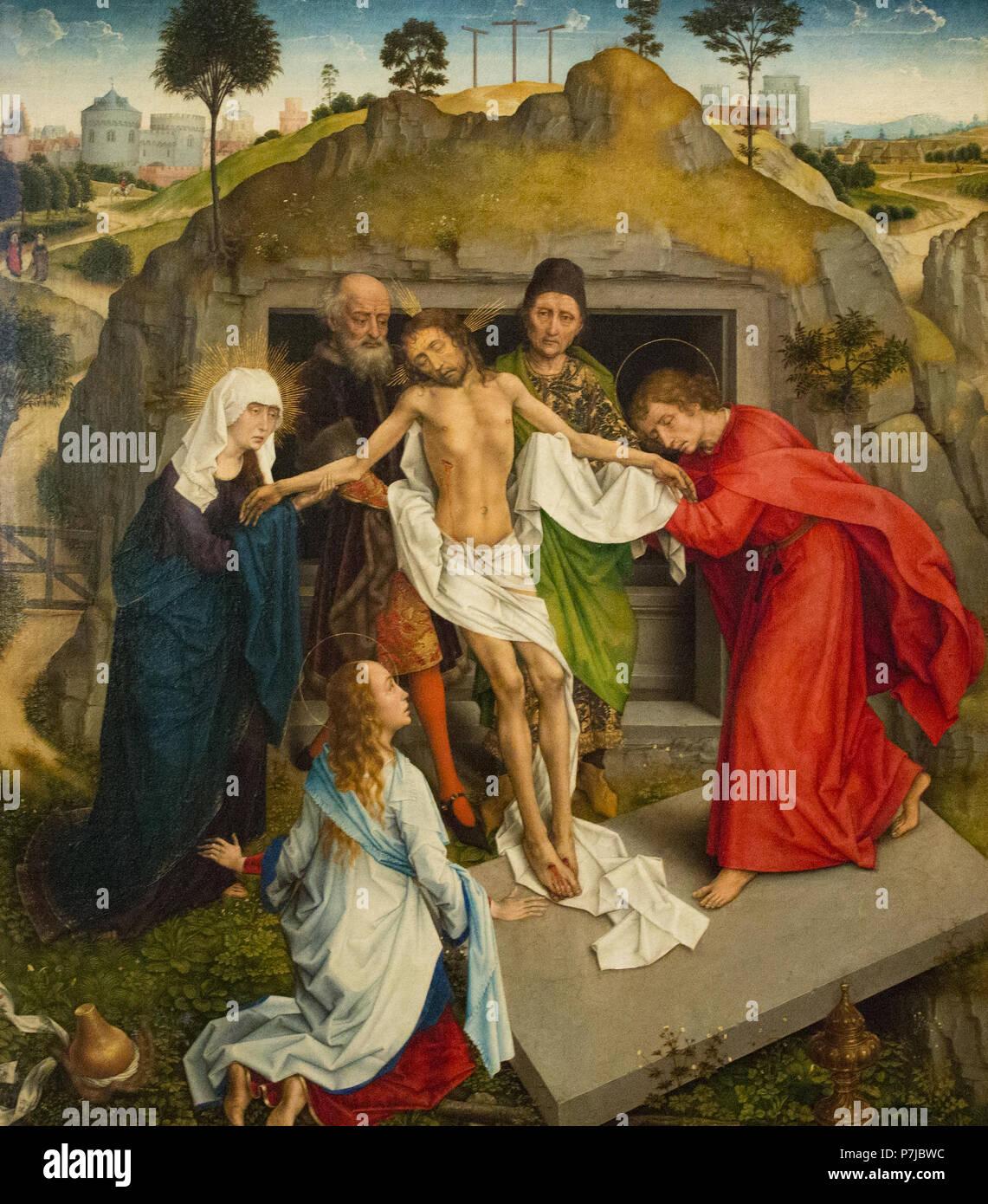 Rogier van der Weyden, la lamentación de Cristo Imagen De Stock
