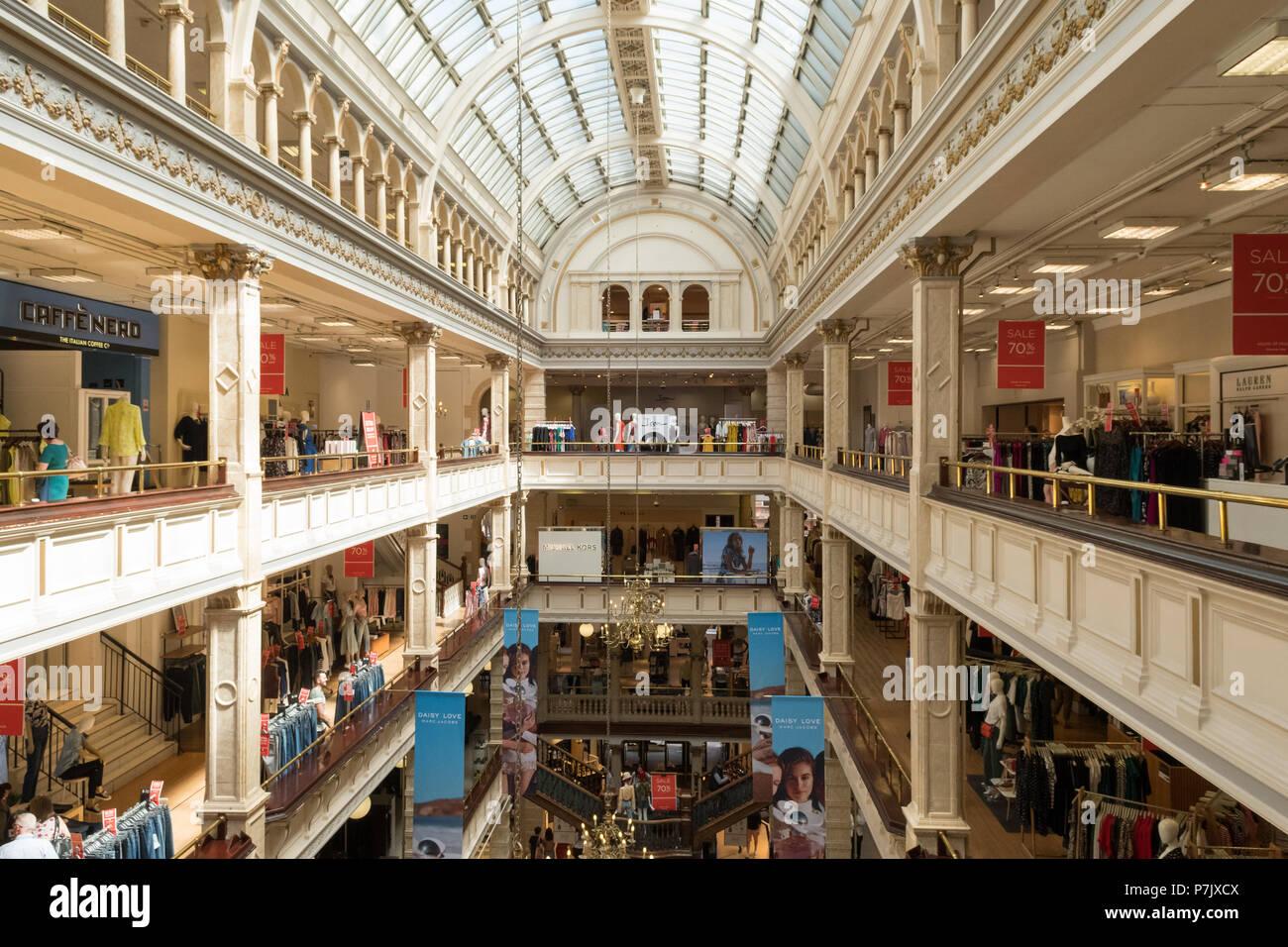 El Frasers department store, Glasgow, Escocia, Reino Unido interior Imagen De Stock