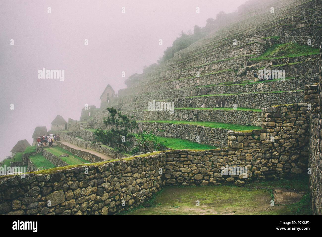 Históricas Ruinas De Machu Picchu Ciudad Perdida En La