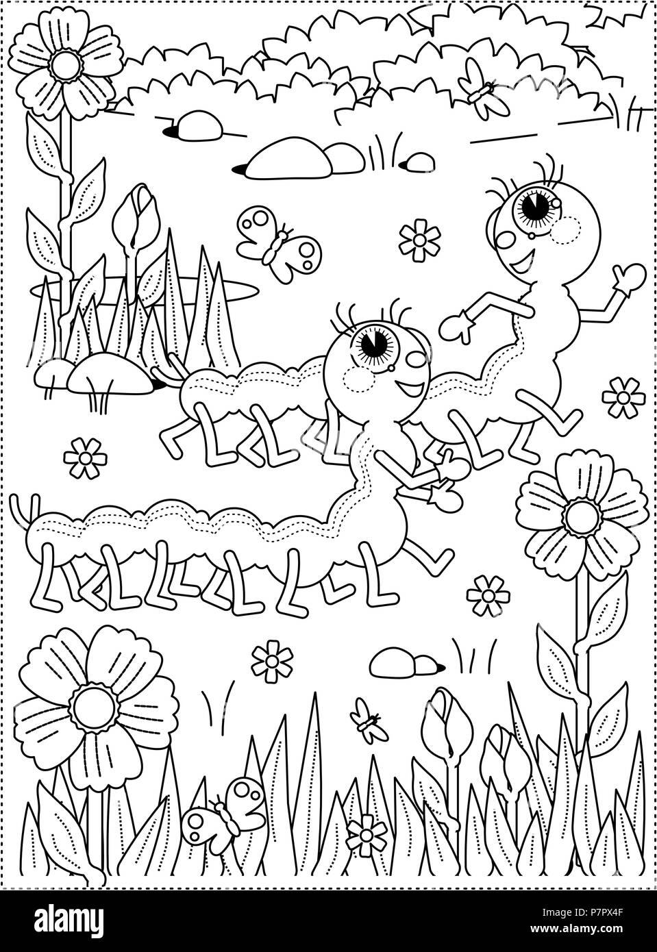 La alegría de la primavera o el verano para colorear temáticas ...