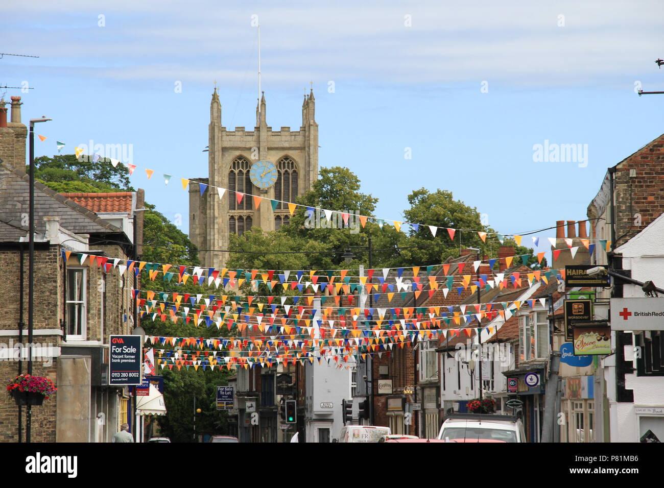 St Mary's Church, Cottingham Foto de stock