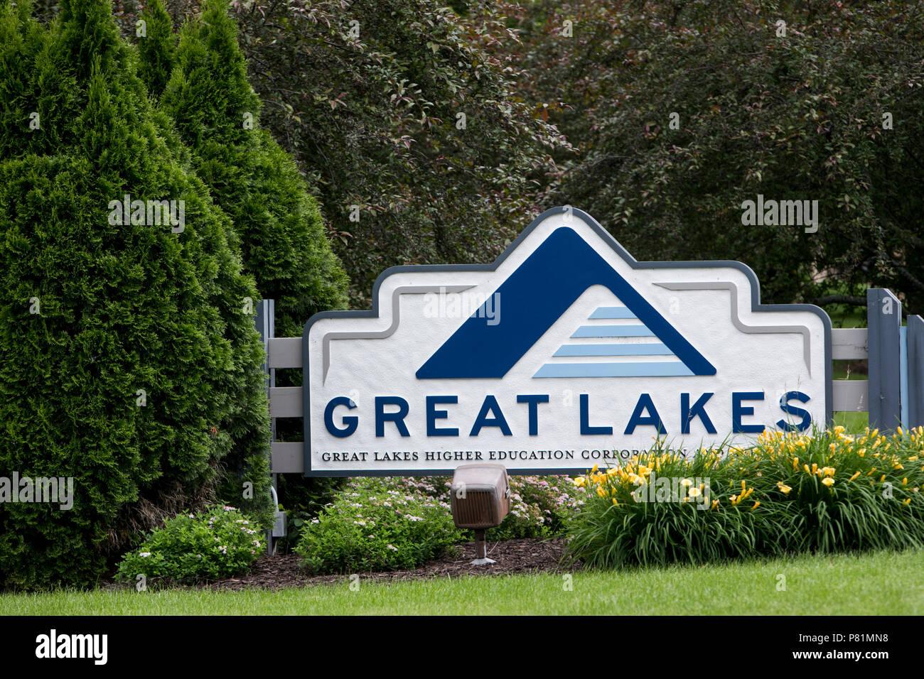 Un logotipo firmar fuera de la sede de la Corporación de educación superior de los Grandes Lagos en Madison, Wisconsin, el 23 de junio de 2018. Imagen De Stock
