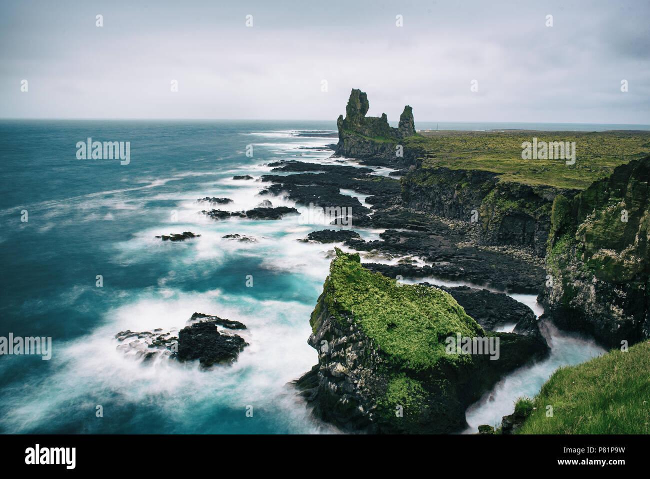 Icland paisaje del mar Foto de stock