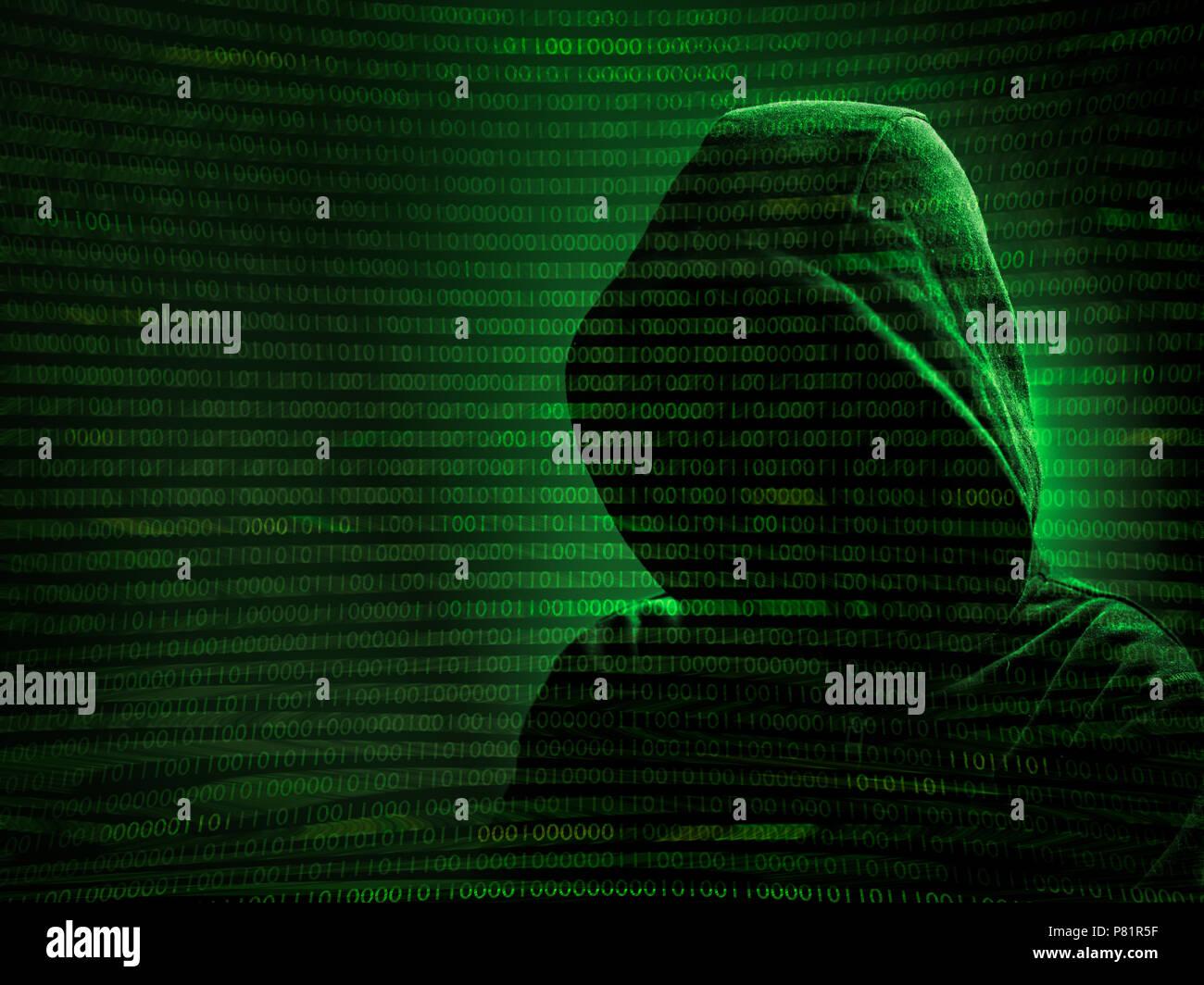 El código vulnerable hacking Foto de stock