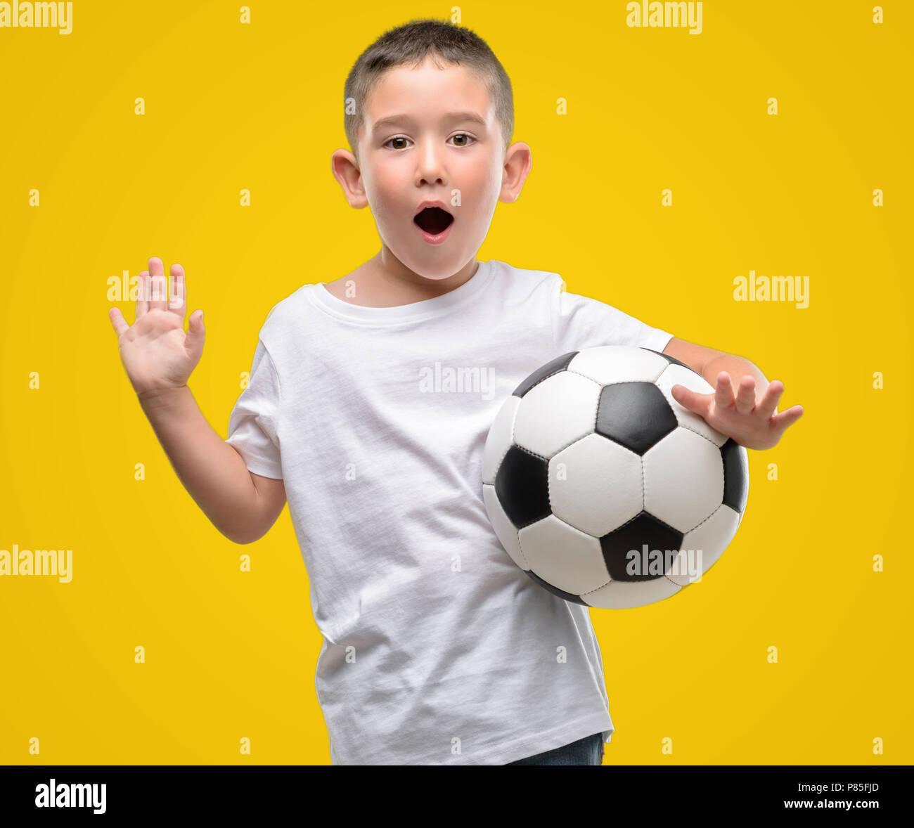 Toddler Holding A Ball Imágenes De Stock   Toddler Holding A Ball ... a7a6204d6a1