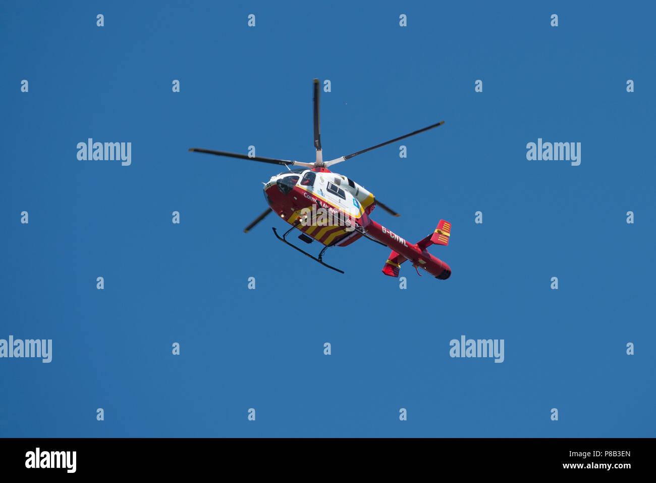 MD902 explorer ambulancia aérea de Cornwall. Imagen De Stock