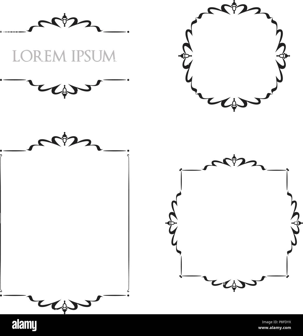 3043fe30c7471 Los bordes de marcos florales Vintage Ornamento elementos decorativos