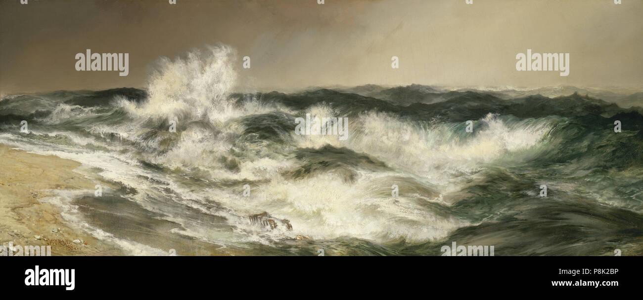 Thomas Moran (American, 1837 - 1926 ), la tan resonante Mar, 1884, óleo sobre lienzo, regalo de la Fundación Avalon 556 Thomas Moran - el Gran Mar rotundo Imagen De Stock