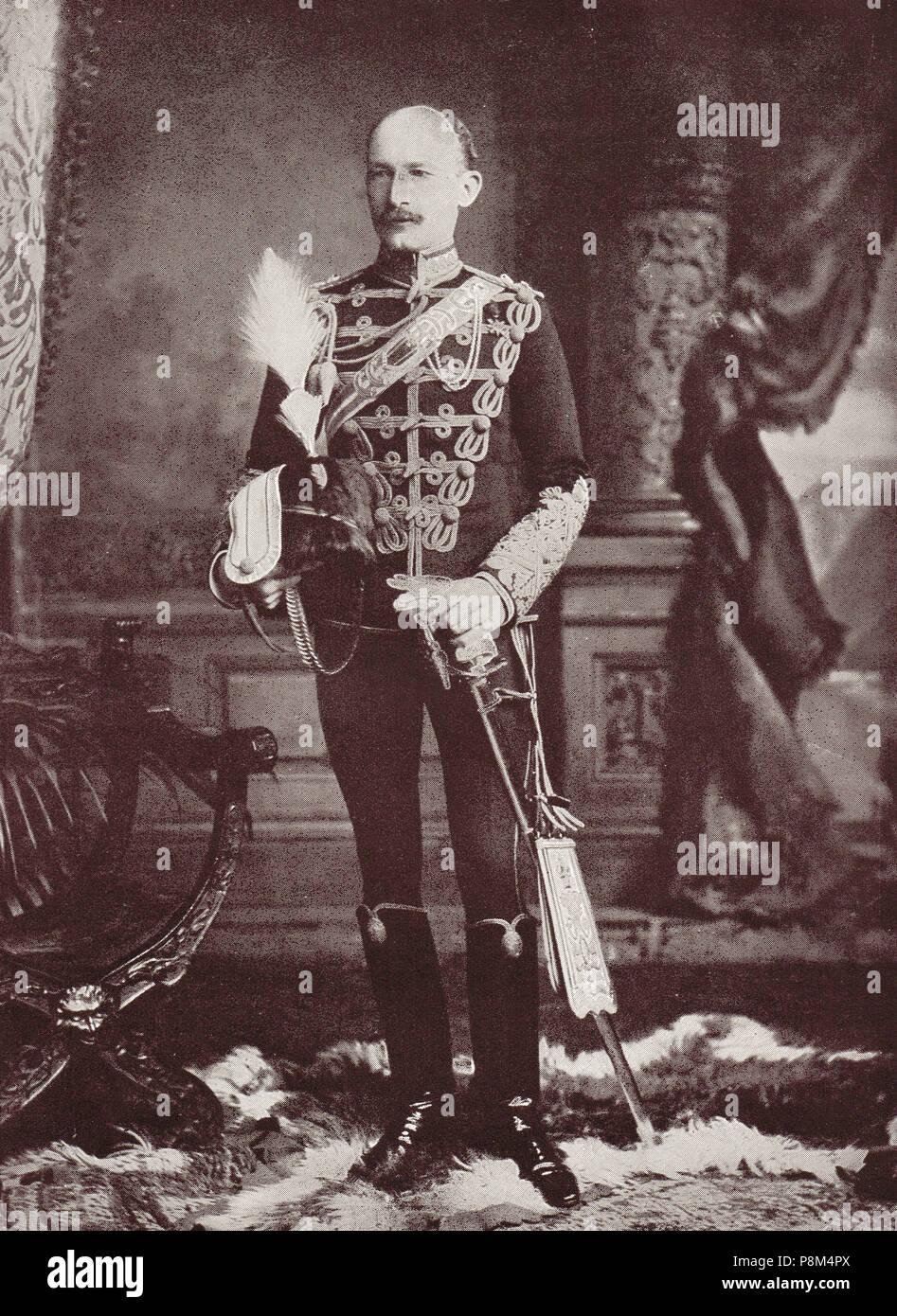 Robert Baden-Powell, 1er Barón Baden-Powell, oficial del ejército británico, escritor, autor de Escultismo para Muchachos, la inspiración para el Movimiento Scout, fundador y primer jefe scout de la Asociación de Boy Scouts, y fundador de las guías. También fue el comandante de la guarnición durante el sitio de Mafeking en la segunda guerra de los Bóers Imagen De Stock