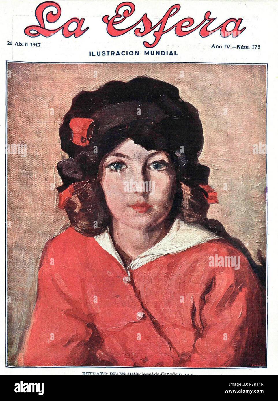 . 16 1917-04-21, La Esfera, el retrato de mi hija, Luis Huidobro Imagen De Stock
