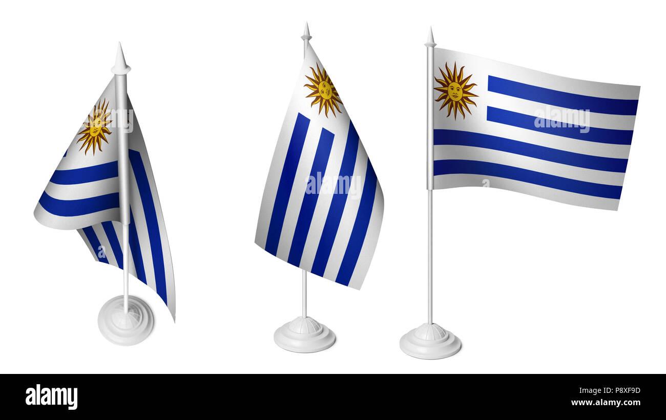 Bandera De Uruguay Imágenes De Stock Bandera De Uruguay Fotos De