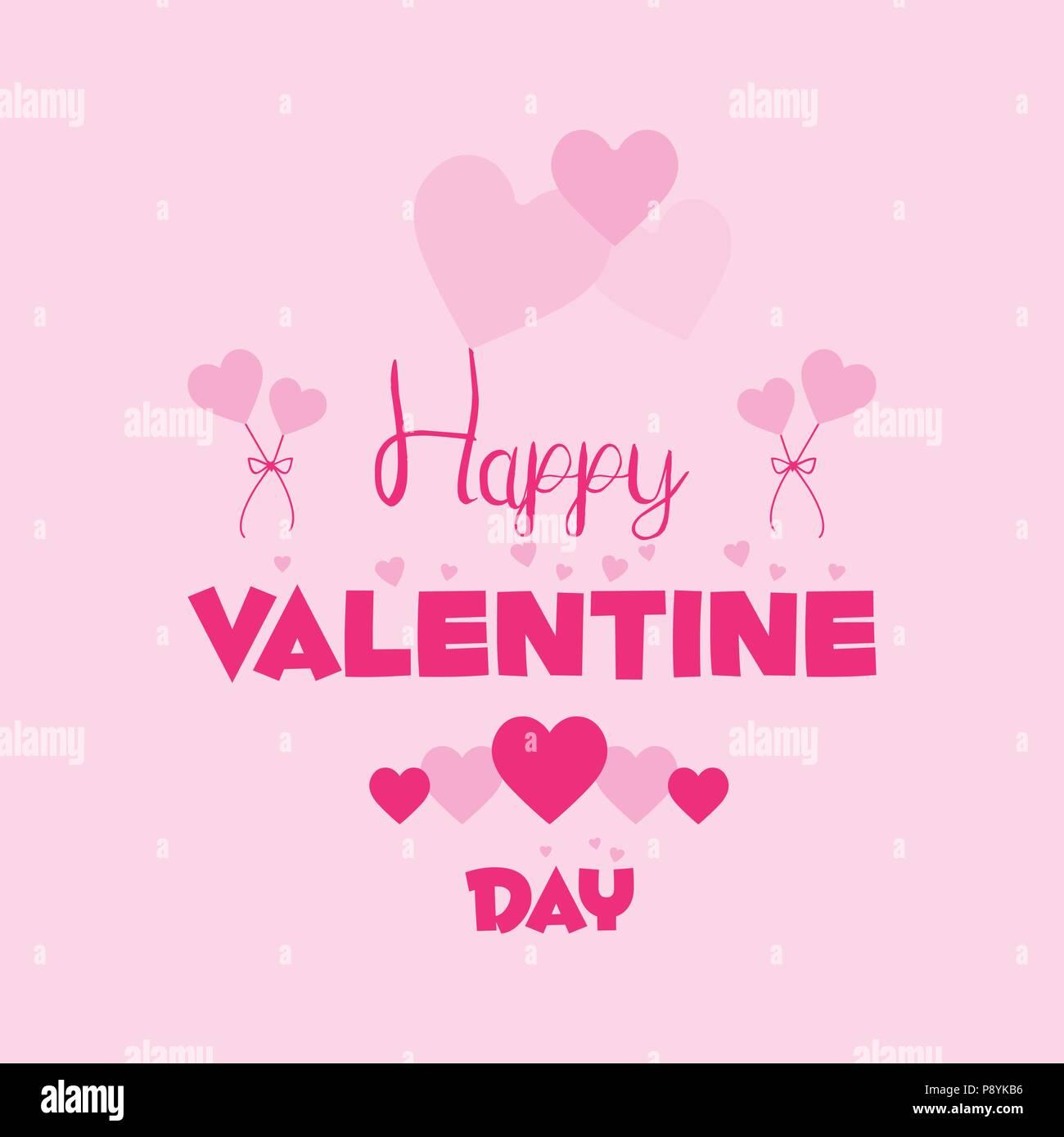 Tarjeta de San Valentín tipografía con fondo de color rosa. Para el ...