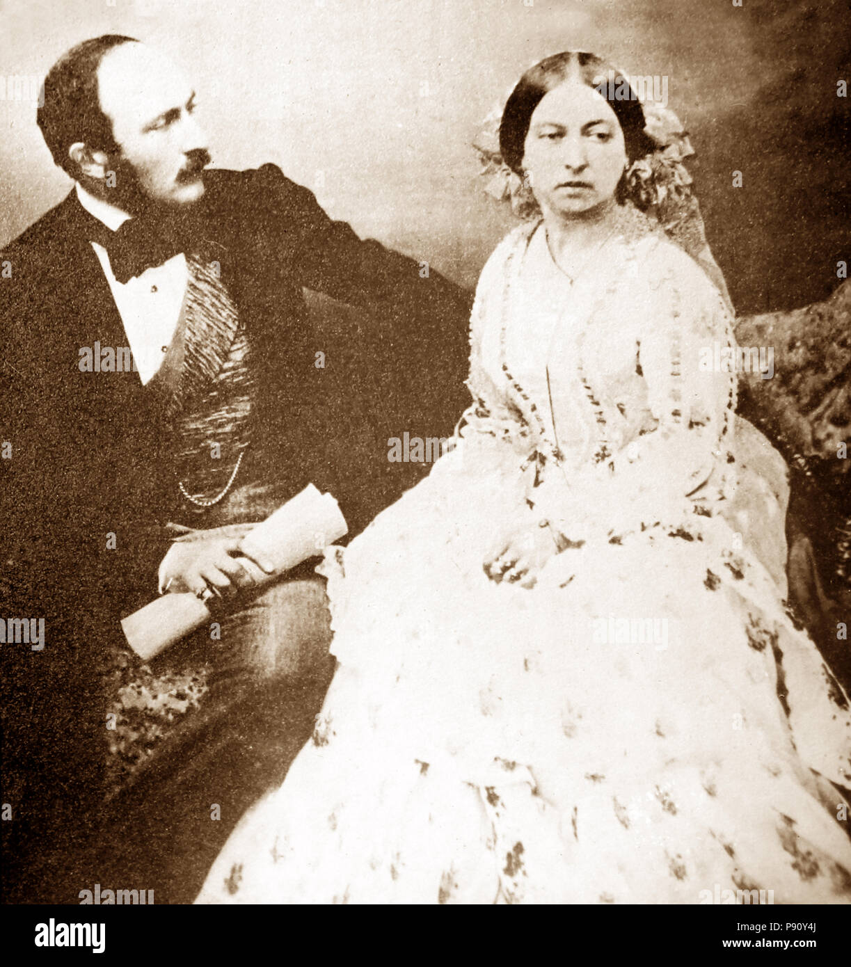La reina Victoria y el Príncipe Alberto Imagen De Stock