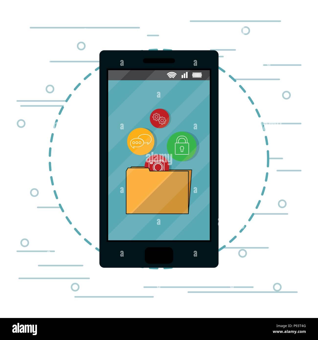 Las aplicaciones móviles de Smartphone Imagen De Stock