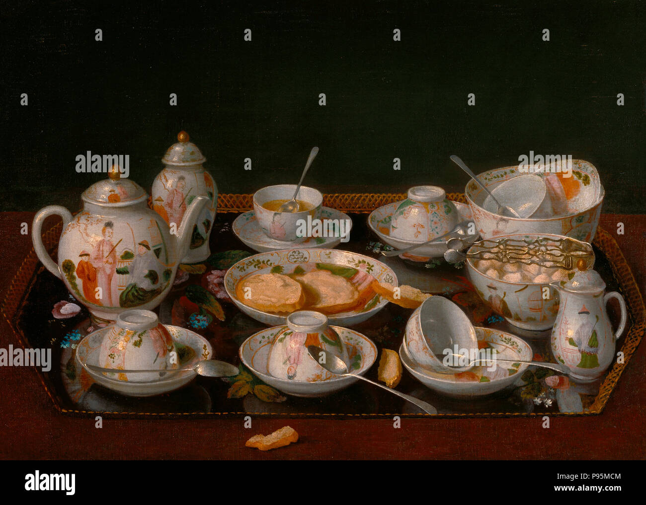 Still Life: juego de té - Jean- Etienne Liotard, circa 1782 Imagen De Stock