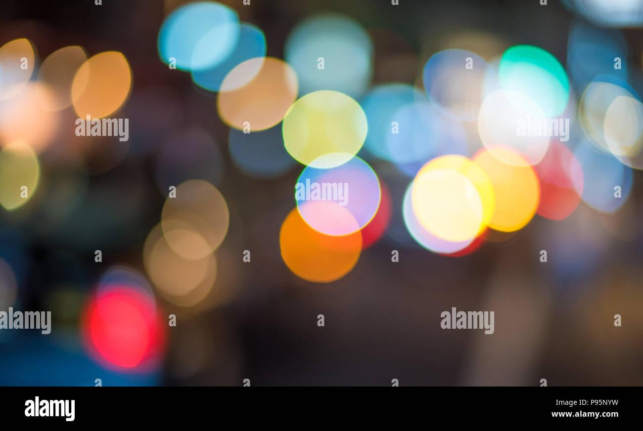 Bokeh luces abstractas. Fondo festivo perfecto. Foto de stock