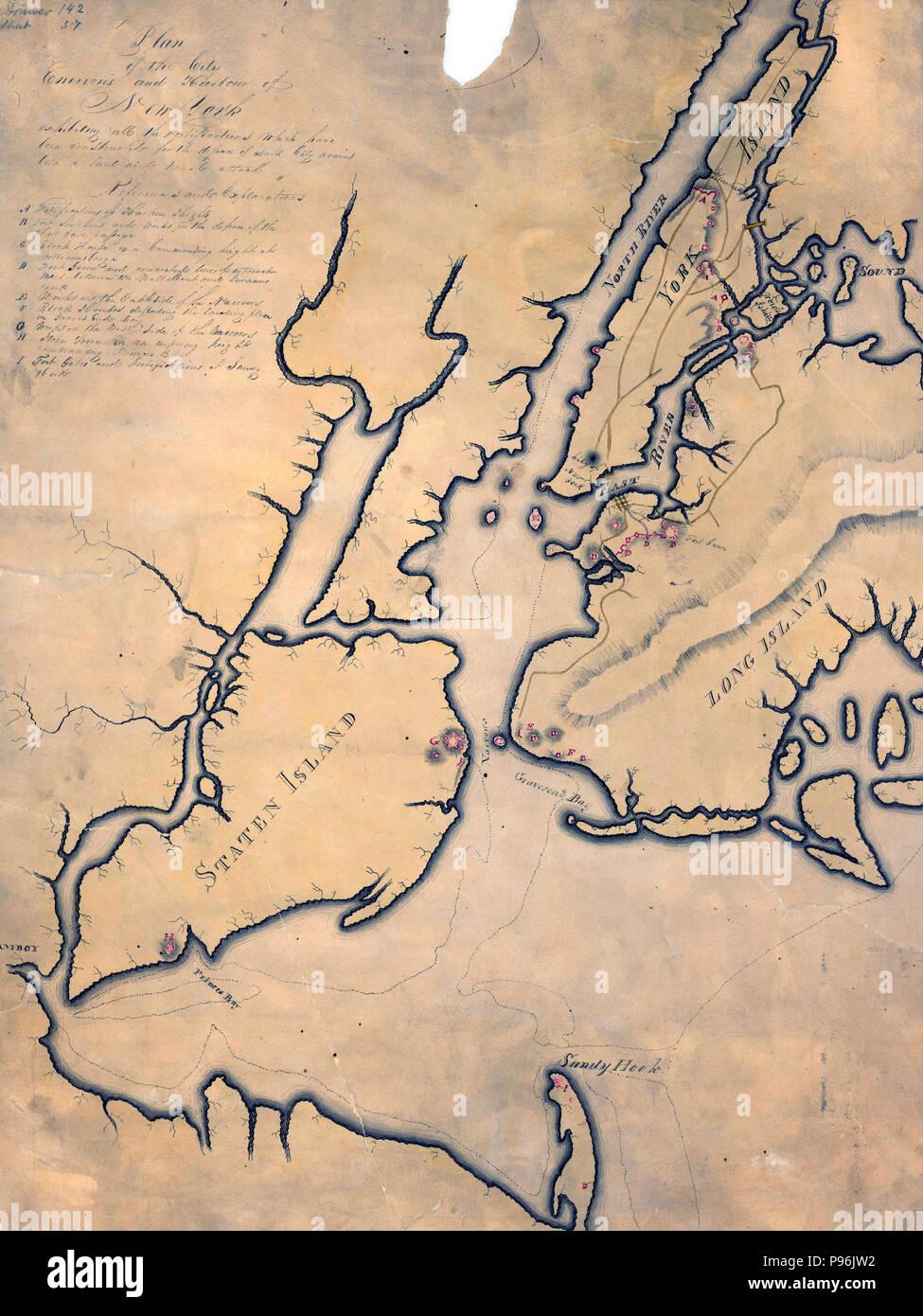 El Plan De La Ciudad Sus Alrededores Y Del Puerto De Nueva York
