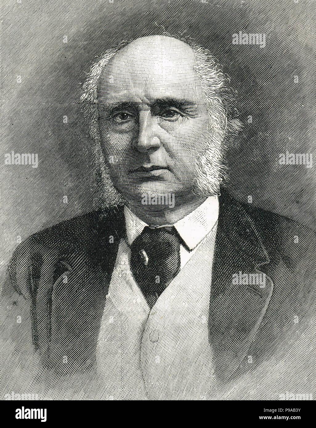 James Wilde, 1er Barón Penzance. Señaló un juez británico quien presidió una serie de juicios notorios Imagen De Stock