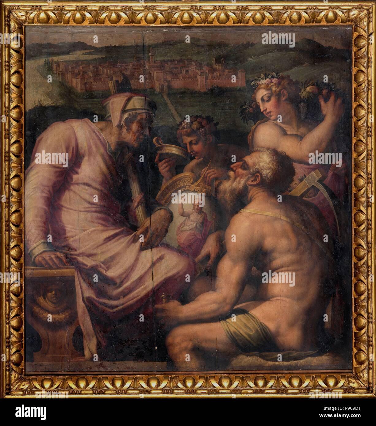 Alegoría de San Giovanni Valdarno. Museo: el Palazzo Vecchio de Florencia. Foto de stock