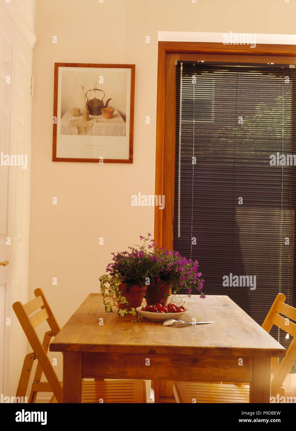 Sillas de madera plegables en pine mesa de comedor de estilo ...