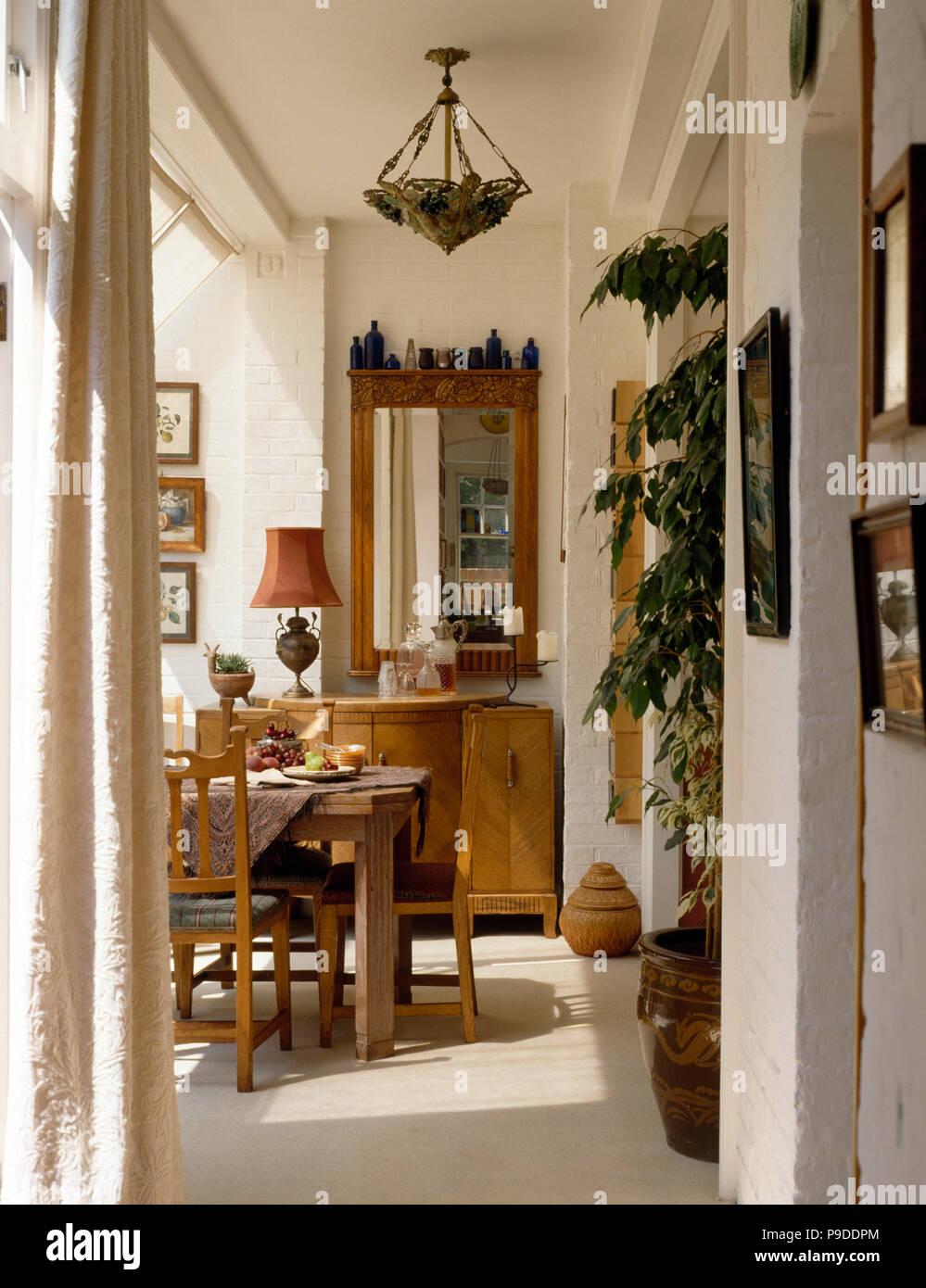 Adaptador de luz Vintage en 90 comedor con muebles de estilo ...