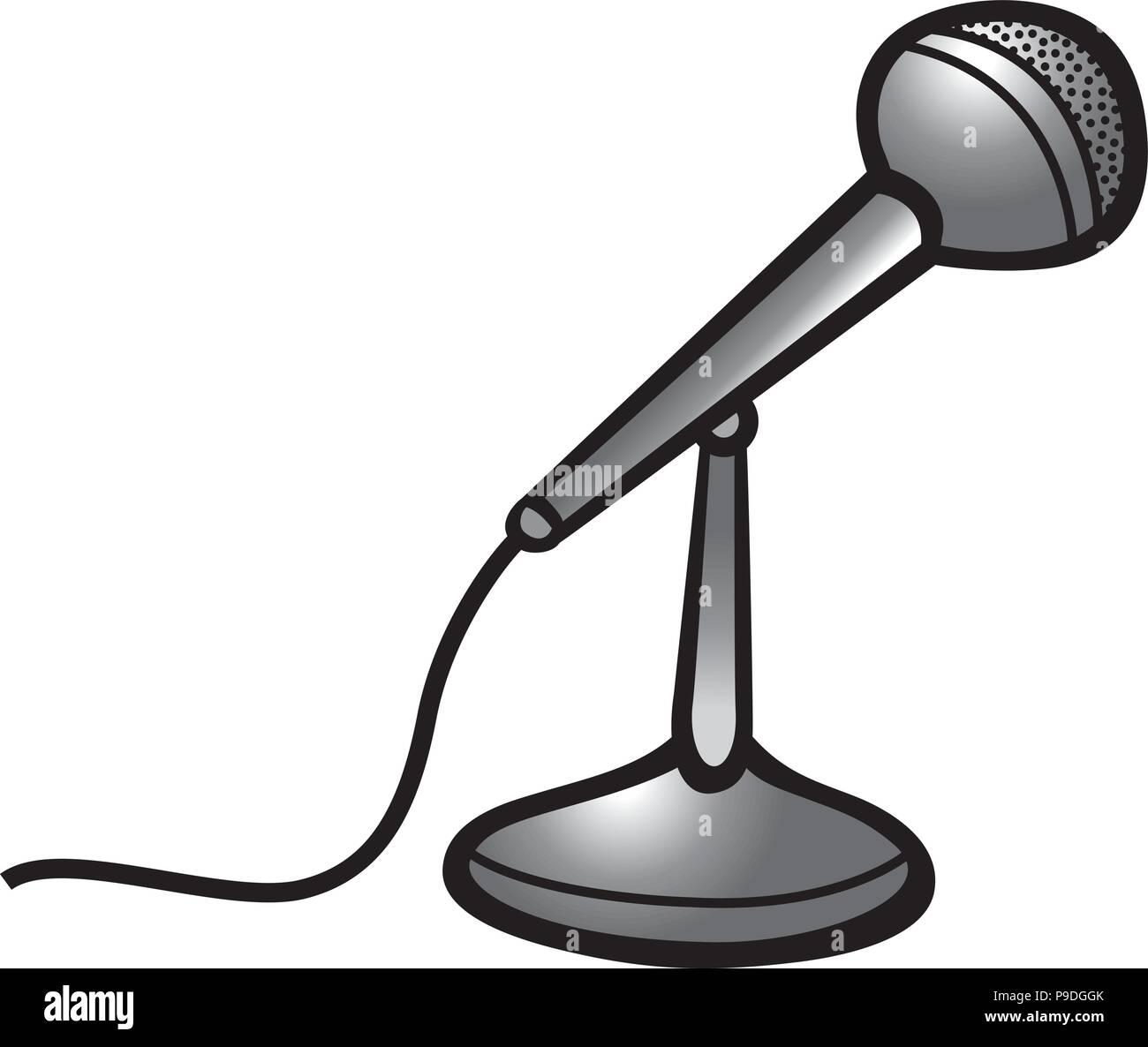 Ilustración Vectorial De Dibujos Animados De Un Micrófono