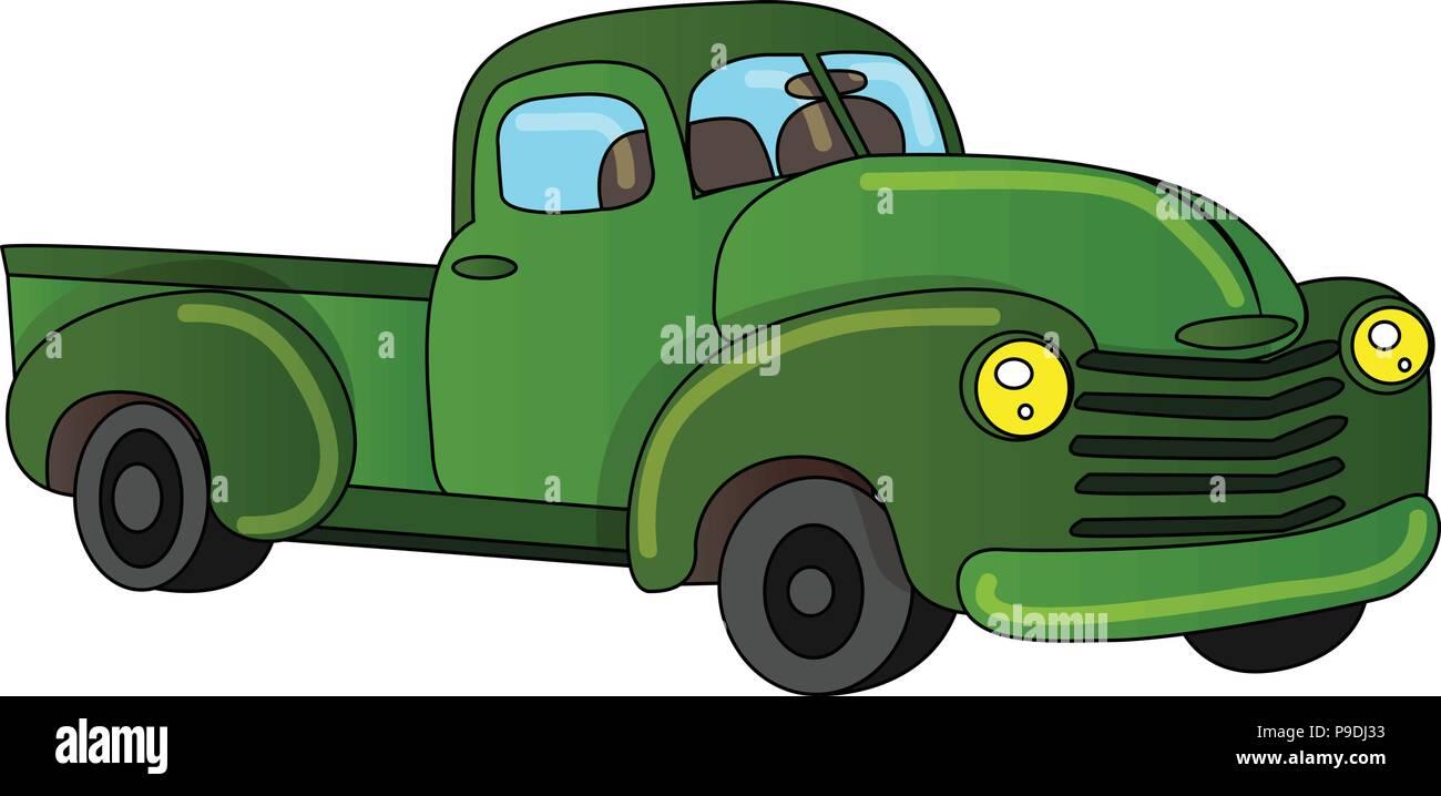 Ilustración Vectorial De Dibujos Animados De Una Camioneta