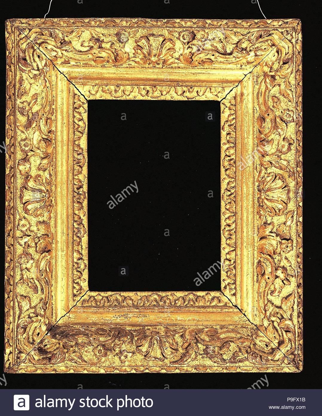 Bastidor Ovolo, 1660-80, el francés, el roble, el 34,2 x 28,8 x 12,7 ...