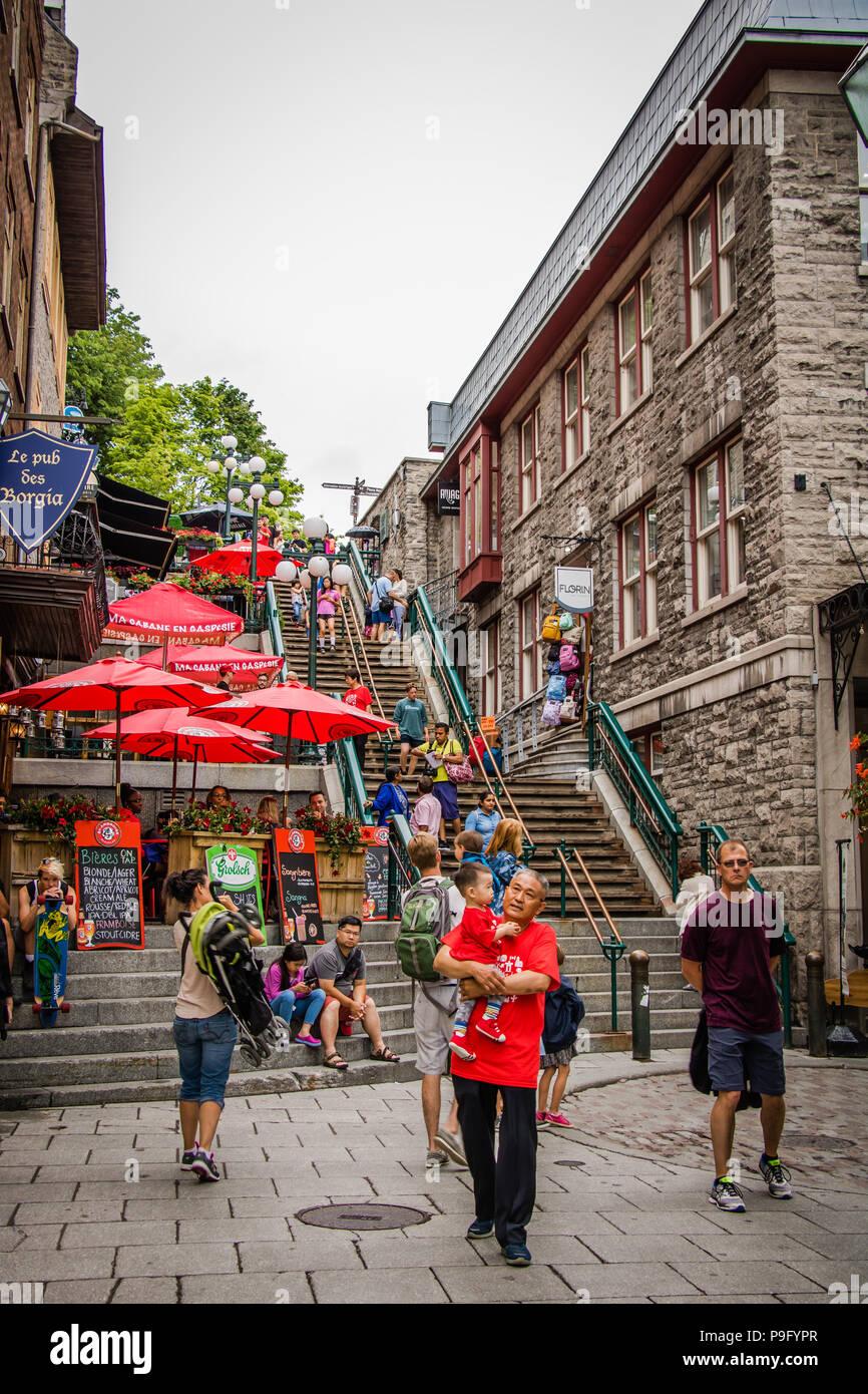 Pasos de vértigo Quebec Canadá Foto de stock
