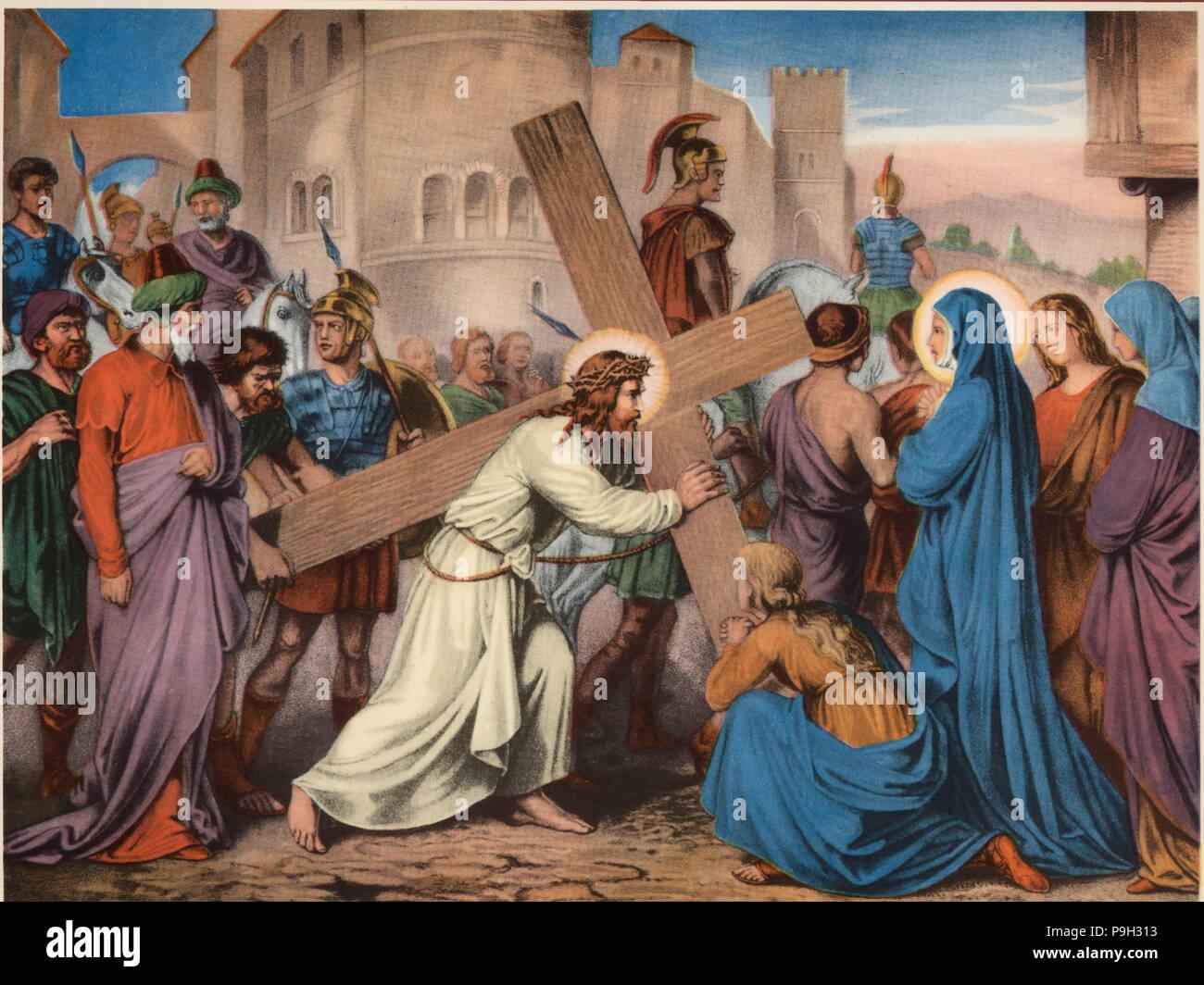Via Crucis Cuarta Estación Jesús Encuentra A Su Santísima