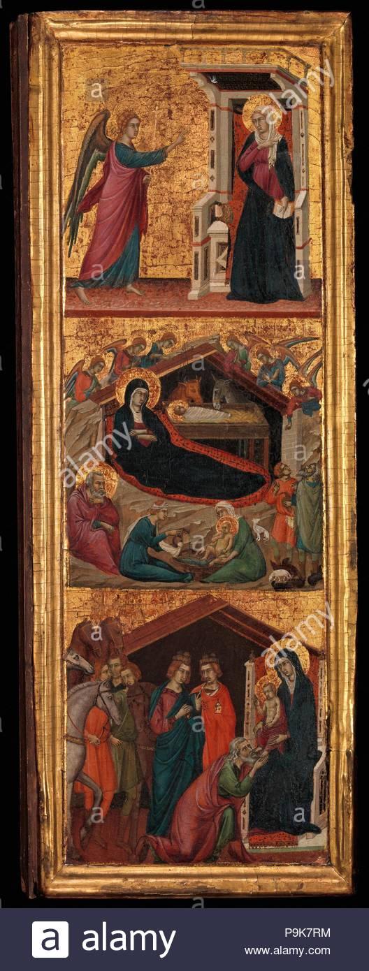 Santos y escenas de la vida de la Virgen, ca. 1320, Témpera sobre ...